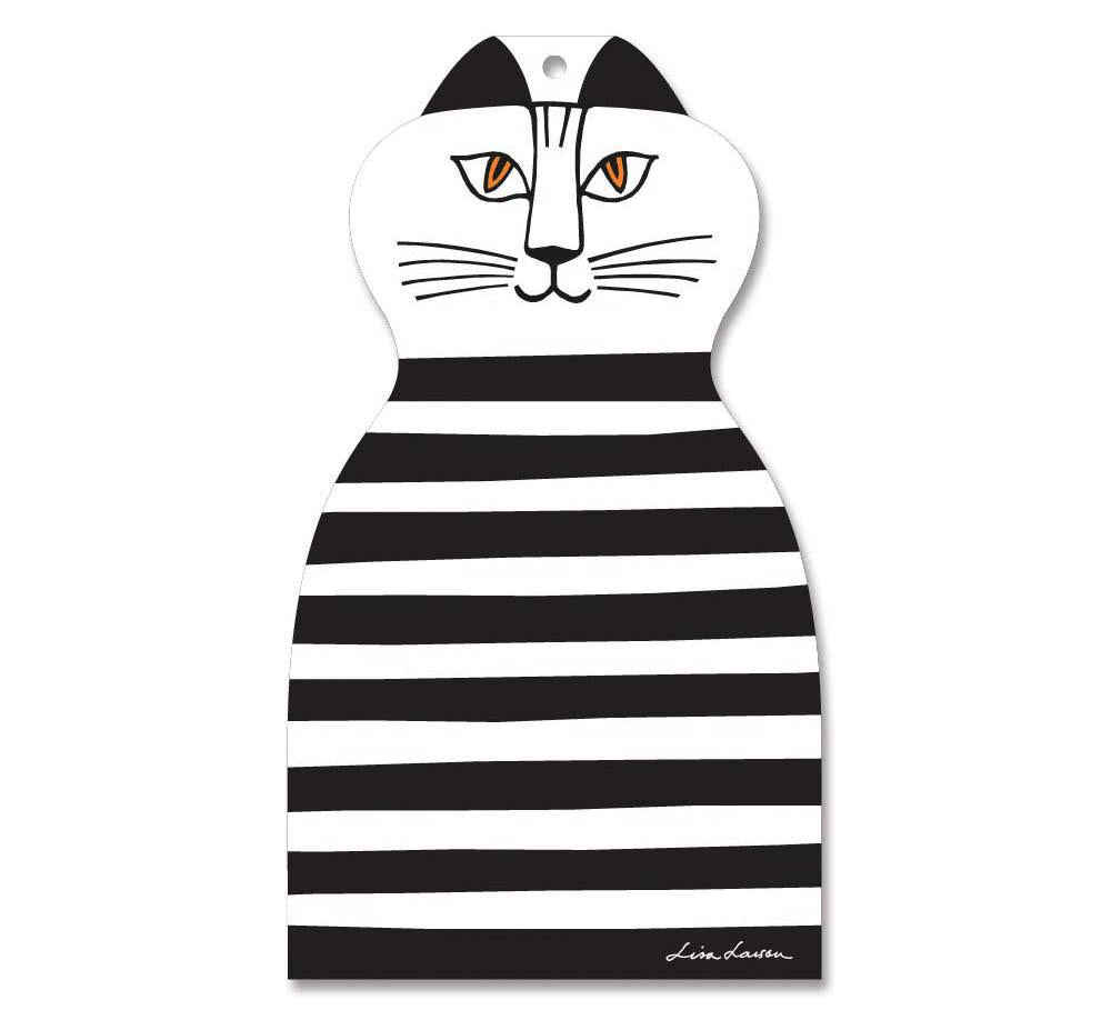 Chopping Board - Cat Black and White-Lisa Larson-Rosie Sorrell