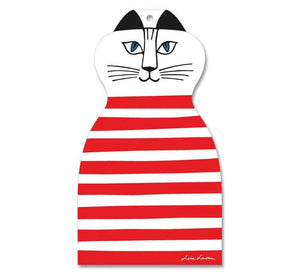Chopping board - Cat Red and White-Opto Design-Rosie Sorrell