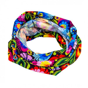 Snood - Floral Lowicz Black