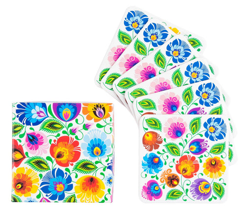 Coasters - Lowicz White Floral-Folkstar-Rosie Sorrell