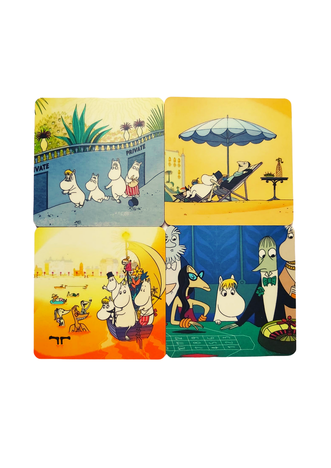 Coasters - Moomins on the Riviera-Rosie Sorrell-Rosie Sorrell