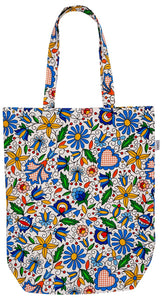 Cotton Tote Bag - Floral Kashubian-Folkstar-Rosie Sorrell