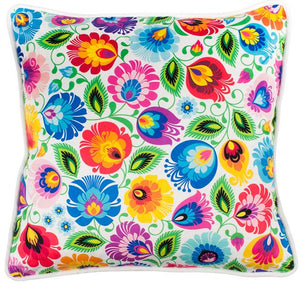 Cushion Cover - Floral White Lowicz-Folkstar-Rosie Sorrell