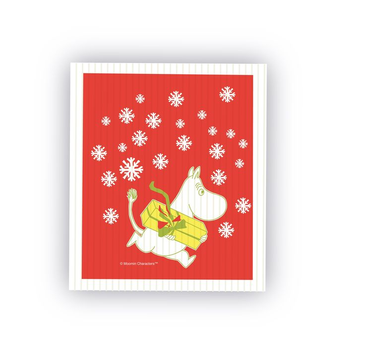 Dish Cloth Card - Christmas Moomin