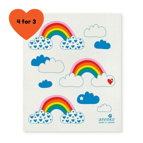 Dish Cloth - Rainbow-Anneko Design Sweden-Rosie Sorrell