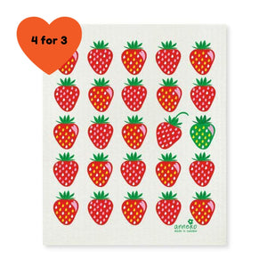 Dish Cloth - Strawberry-Anneko Design Sweden-Rosie Sorrell