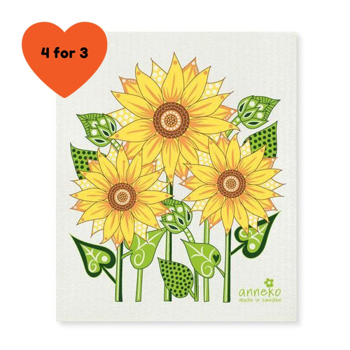 Dish Cloth - Sunflower-Anneko Design Sweden-Rosie Sorrell