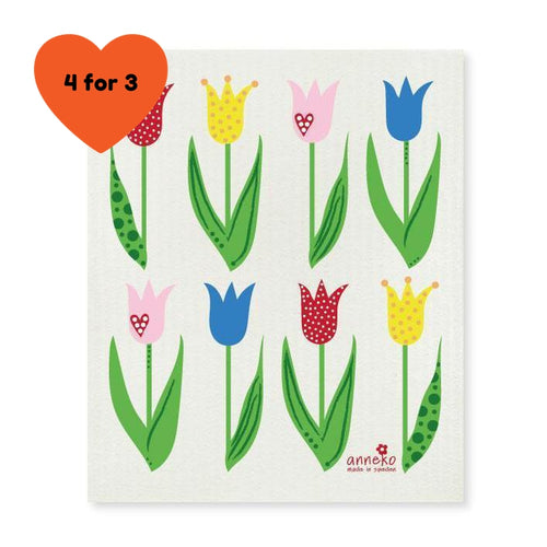 Dish Cloth - Tulips-Anneko Design Sweden-Rosie Sorrell