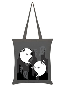 Happy Spooks Ghost Tote Bag-Grindstore-Rosie Sorrell