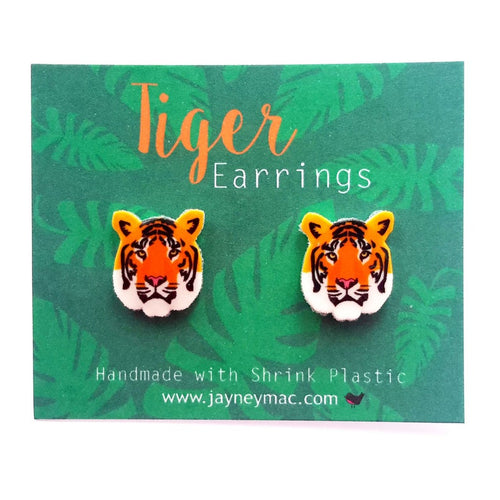 Earrings - Tiger