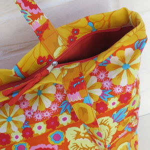 Kaffe Fassett - Shopping Bag Orange-Rosie Sorrell-Rosie Sorrell