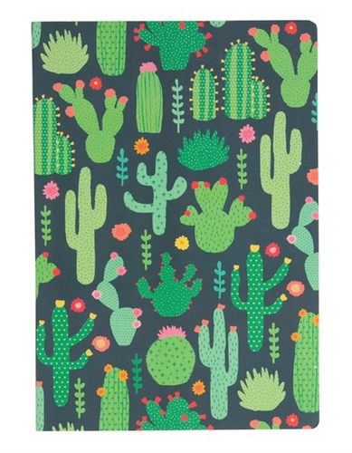 Notebook - Colourful Cactus A5-Sass and Belle-Rosie Sorrell