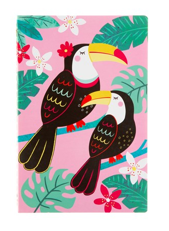 Notebook - Tiki Toucan A5-Sass and Belle-Rosie Sorrell