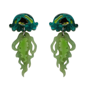 Slippin' Under Jellyfish Earrings-Erstwilder-Rosie Sorrell