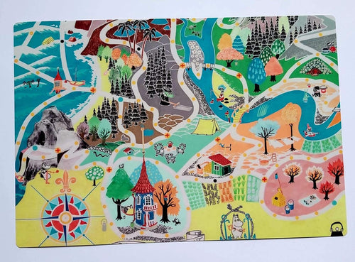 Table Mat - Moomins Japan Map-OPto-Rosie Sorrell