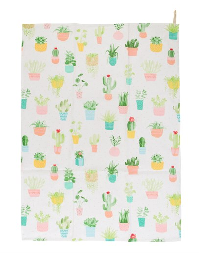 Tea Towel - Pastel Cacti-Sass and Belle-Rosie Sorrell