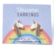 Earrings - Glitter Unicorn-Jayney Mac-Rosie Sorrell