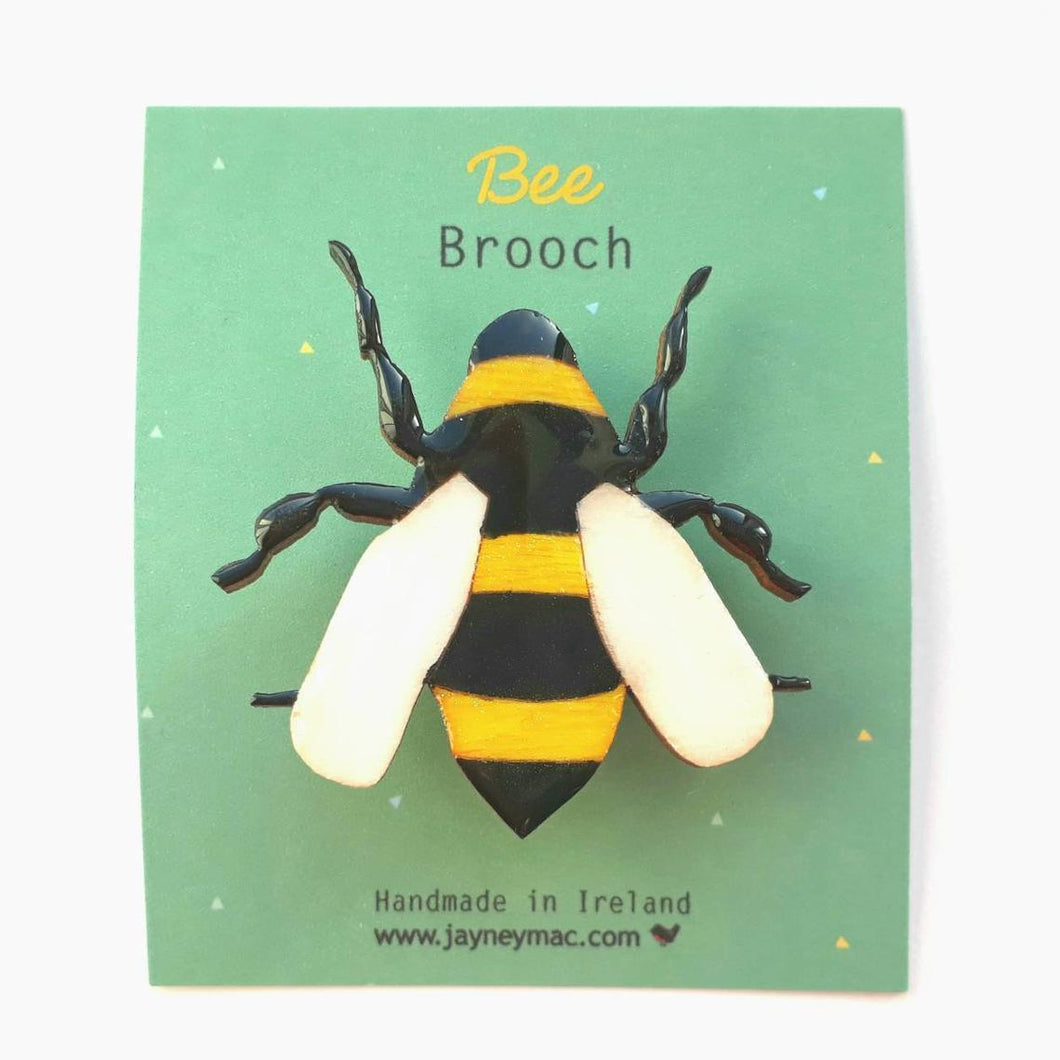 Wooden Bee Brooch-Jayney Mac-Rosie Sorrell