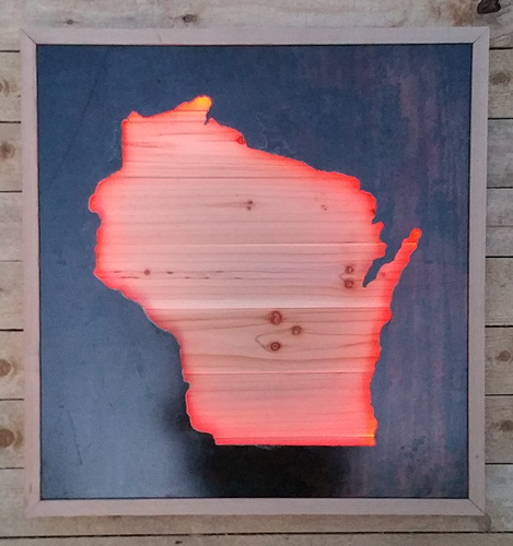 Wisconsin Colored Light Box