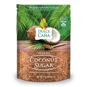 DULCE CAÑA - Organic Coconut Sugar (Unrefined, Low Glycemic, Gluten Free) 1 Lb Bag