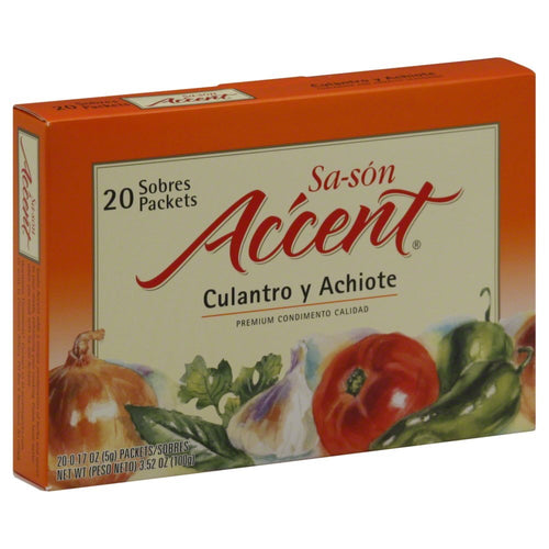 Accent Sason Seasoning - Coriander & Annatto - 3.52 oz (20 packets per Box)