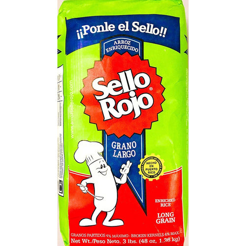 Arroz Sello Rojo - Long Grain Rice - 3lb. Bag