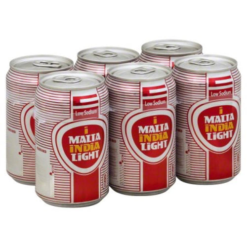 Malta India Light Malt Beverage - 8oz. Cans - 48fl.oz. per Six Pack