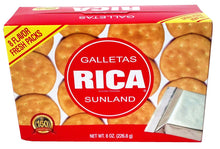 Galletas Rica Sunland by Royal Borinquen - 7oz. Box (8 Packs of 6 Crackers)