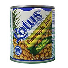 Lotus Pineapple Juice - Product of Puerto Rico,100% Juice & Vitamin C - 7.1 fl oz (Count of 6)