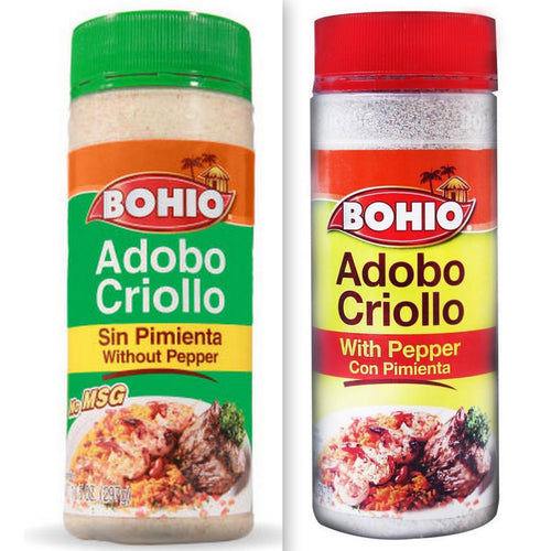 Bohio Adobo Value Pack - 1 with Pepper & 1 without Pepper - 16.5 oz Jars (Count of 2)
