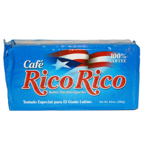 Cafe Rico Rico - 100% Pure Coffee, By Caracolillo Coffee Mills - 8 Oz Vacuum Packed