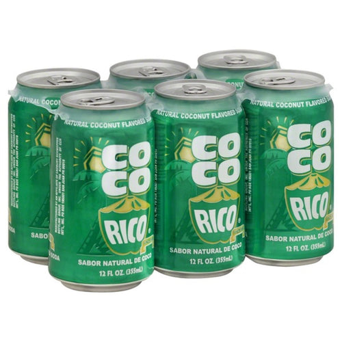 Coco Rico - Coconut Flavored Soda - SIX PACK (12 fl. oz / can)