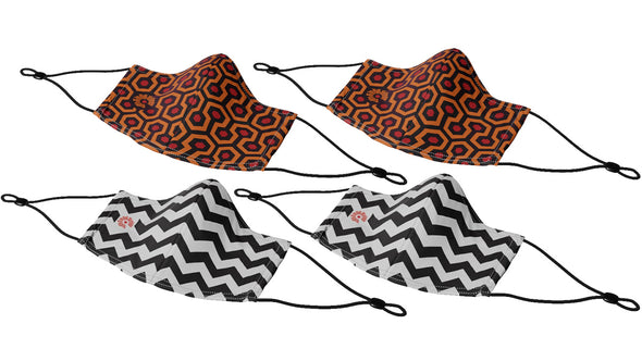 Variety 4-Pack - Caretaker and Chevron w/ Adjustable Ear Loops