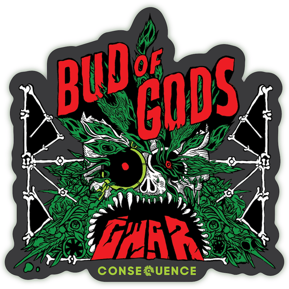 gwar bud of gods vinyl sticker diecut
