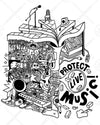 Protect Live Music Long Sleeve Shirt (Version 1)