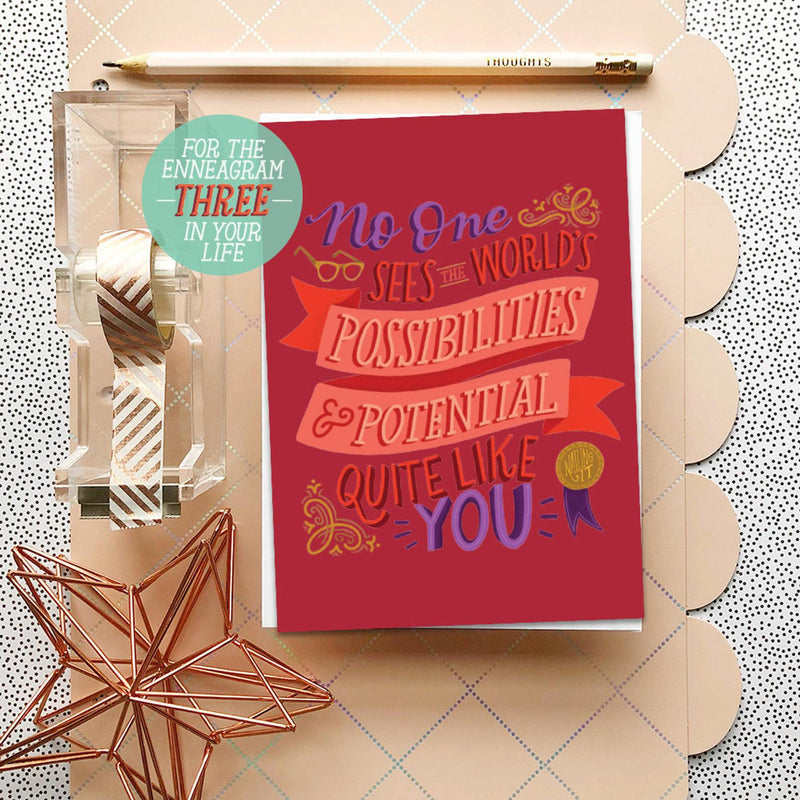 Enneagram Three Greeting Card  - Greeting Card with Soap Shot