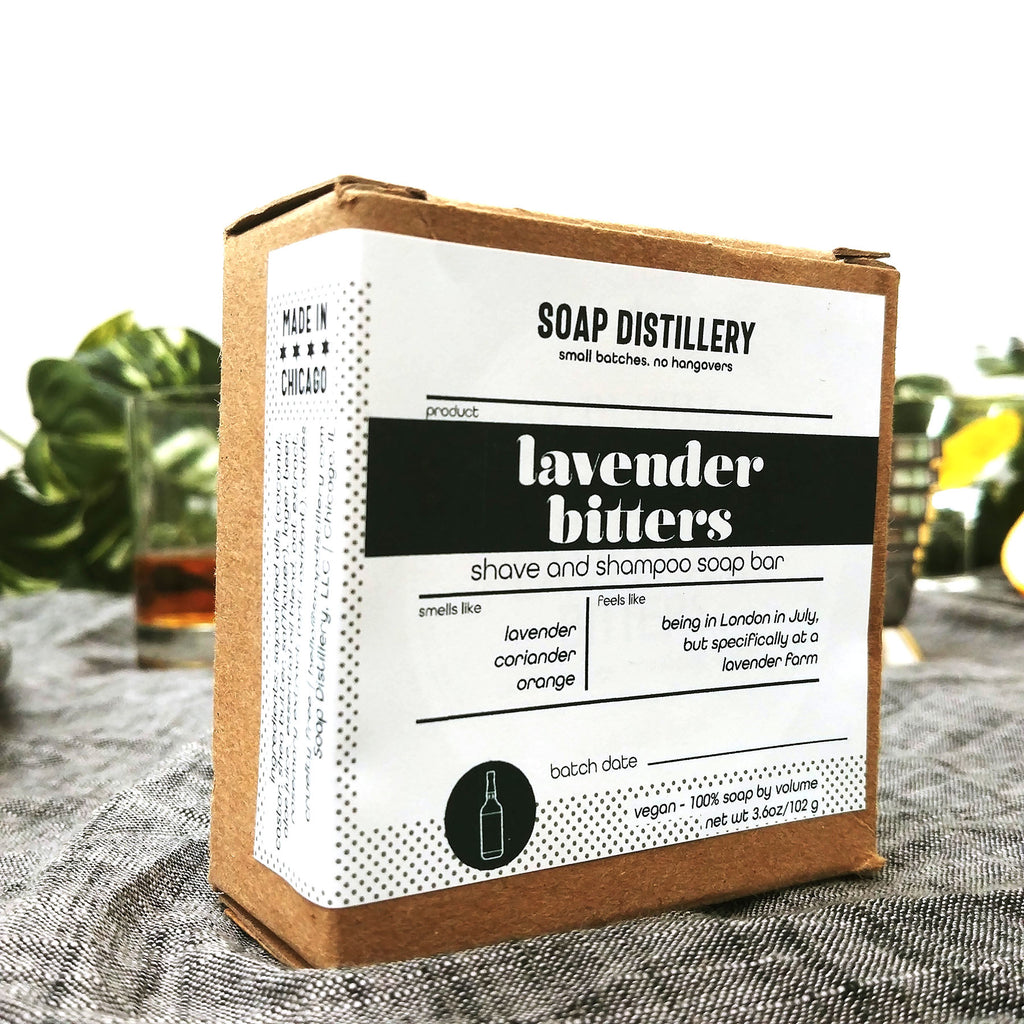 Lavender Bitters Shave and Shampoo Soap