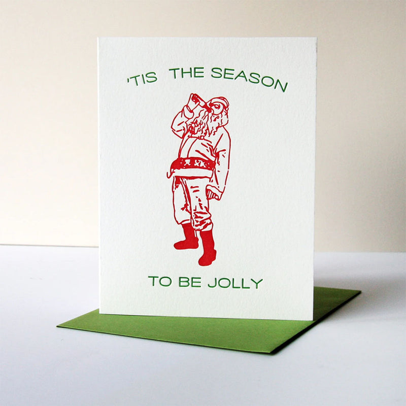 'Tis The Season  - Greeting Card with Soap Shot