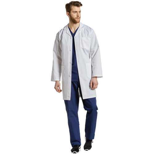 2068 Three-Pocket Button Front Lab Coat