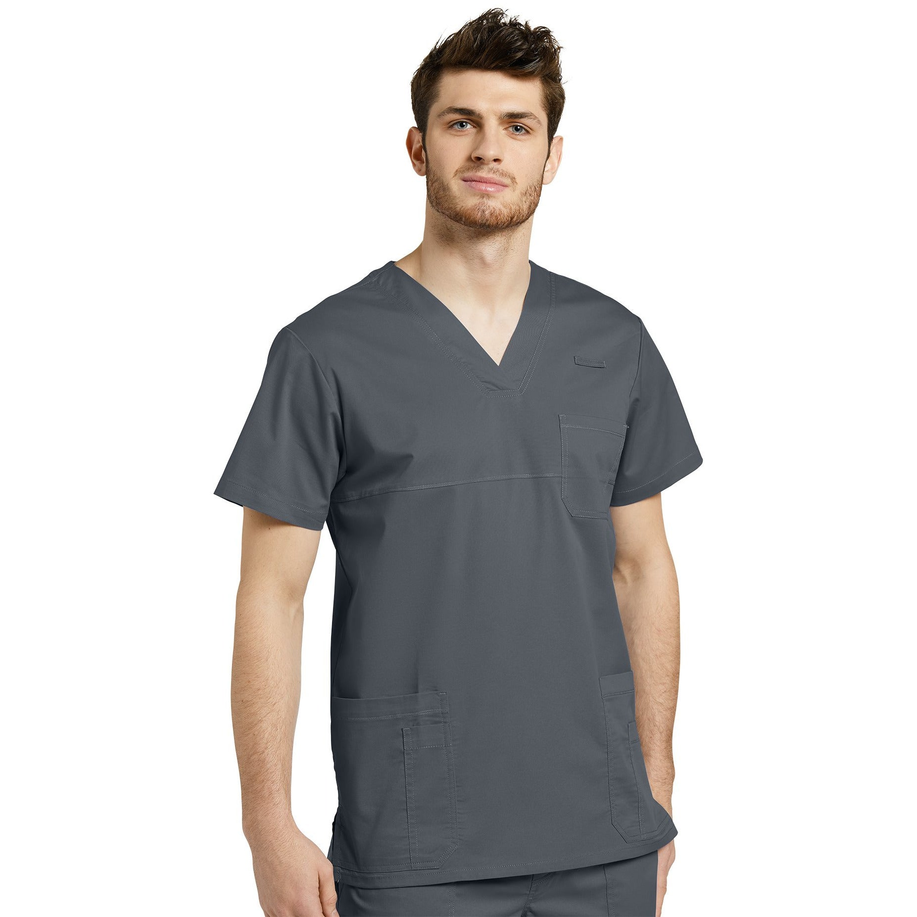 Men Scrub Top ALLURE V-neck top with reverse Cover Stitch 2265