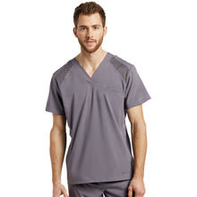 Load image into Gallery viewer, Men Scrub V-neck Top With Mesh Details 2266