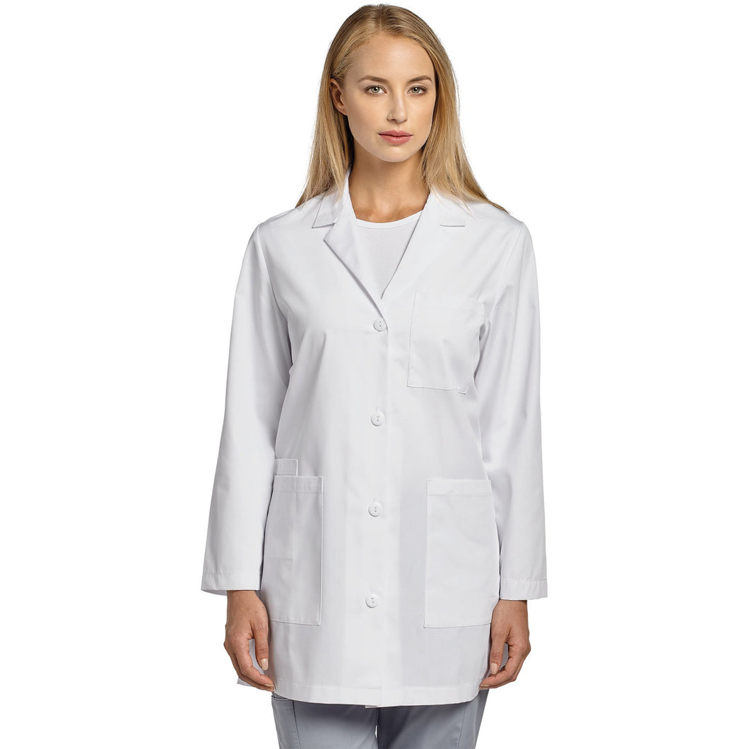 Basic Button Front Lab Coat 2411