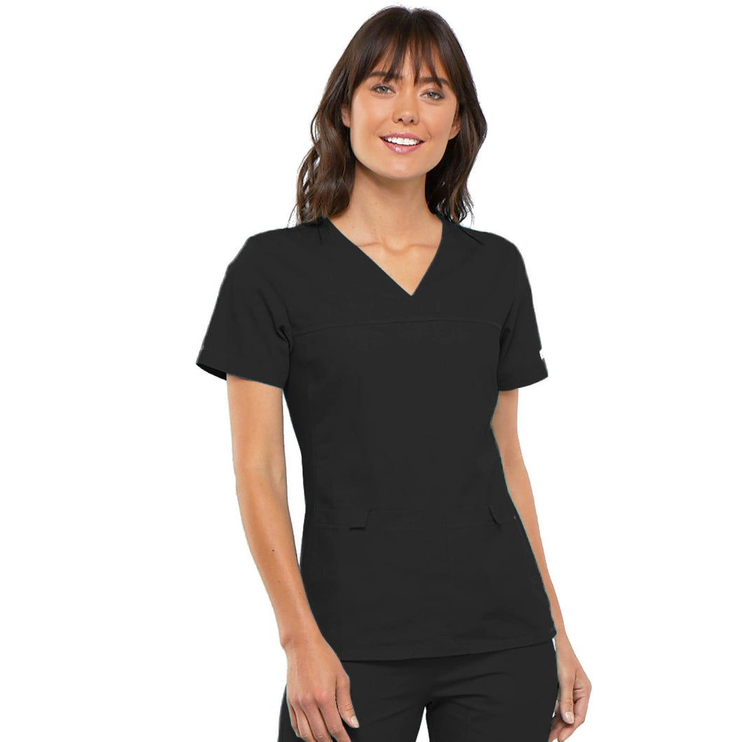 Cherokee Flexibles V-Neck Knit Panel Top 2968 (XS-XL)