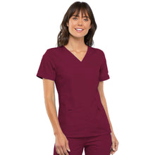 Load image into Gallery viewer, Cherokee Flexibles V-Neck Knit Panel Top 2968 (XS-XL)