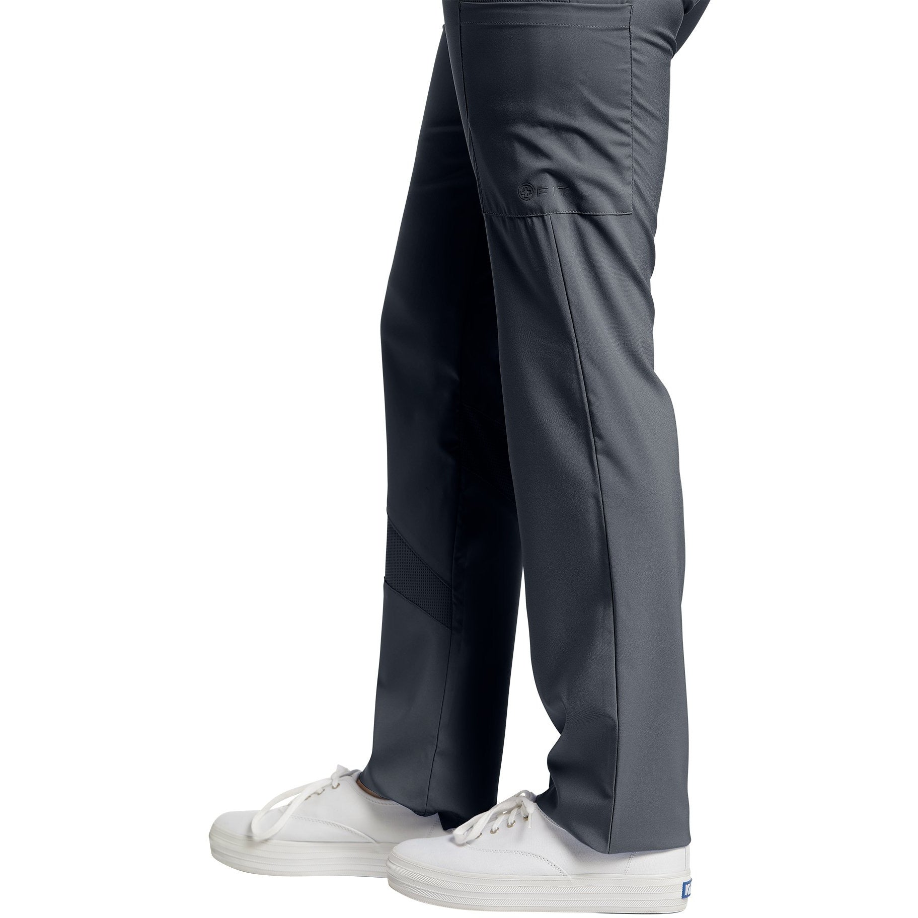 328 White Cross Stretch Waistband Pant