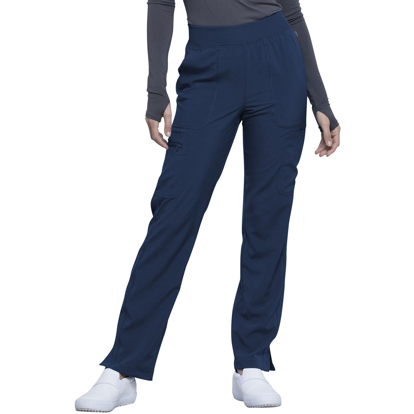 Mid Rise Tapered Leg Pull-on Pant CK065A (XXS-L) INSEAM 30.5""