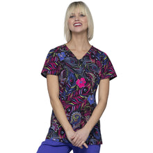 Load image into Gallery viewer, HeartSoul Prints V-Neck Top HS614 *FINAL SALE*