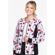Load image into Gallery viewer, Zip Front Knit Panel Warm-Up Jacket Top 2315C * FINAL SALE*