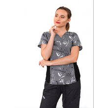 Load image into Gallery viewer, MOBB Flexi Stretchy Sides V-Neck Scrub 324T (CLEARANCE SALE)