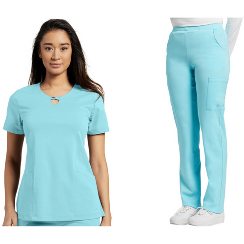 SET* Gigi neckline top 774 FIT & 390 FIT Cargo Pant  *CLEARANCE SALE*